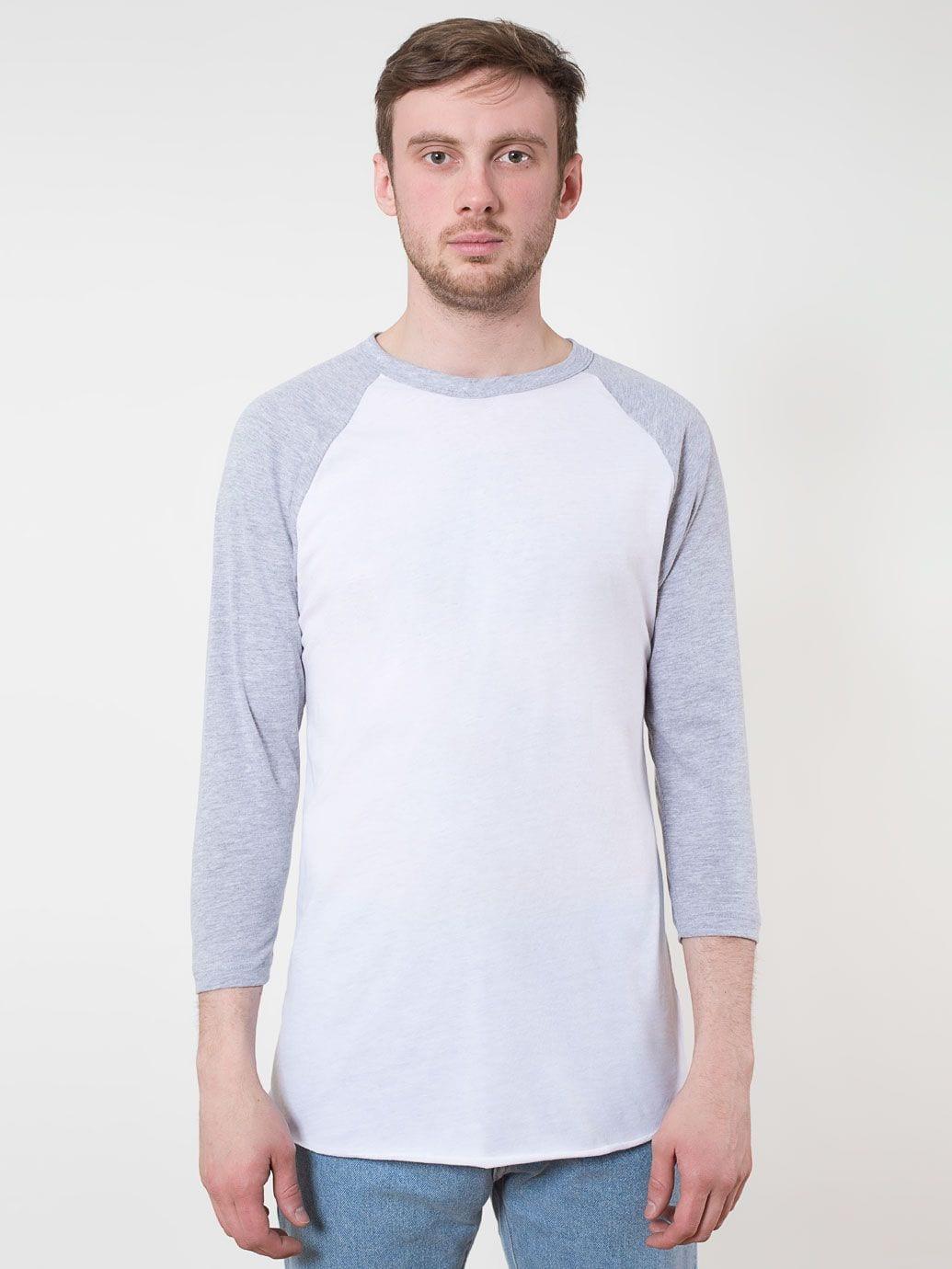 American apparel unisex 3 4 sleeve raglan t shirt for American apparel custom t shirt printing