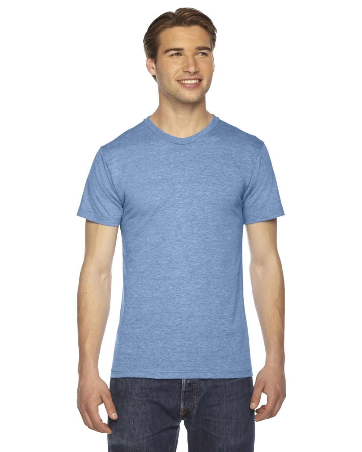 american apparel unisex triblend track tee floodway